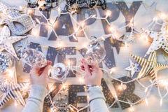 Partido de la Noche Vieja Fotografía de archivo libre de regalías