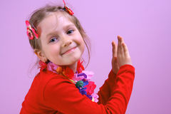 Partido de la pequeña muchacha fotos de archivo