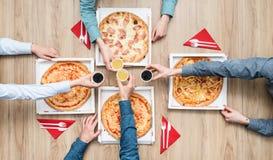 Partido de la pizza Fotos de archivo