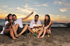 Partido de la playa Imágenes de archivo libres de regalías