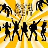 Partido de la playa ilustración del vector
