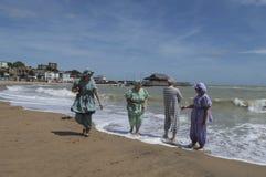 Partido de la playa del festival de Broadstairs Dickens Fotografía de archivo libre de regalías