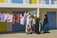 Partido de la playa del festival de Broadstairs Dickens Foto de archivo libre de regalías
