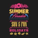 Partido de la playa del verano cada camiseta de la noche stock de ilustración
