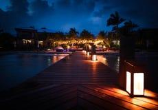 Partido de la playa en la noche imagen de archivo libre de regalías