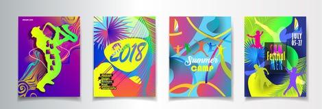 Partido de la playa de JAZZ Music Festival Tropical Sea del verano libre illustration