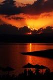 Partido de la puesta del sol Fotografía de archivo libre de regalías