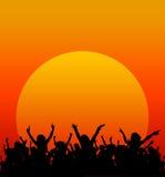Partido de la puesta del sol Imagen de archivo libre de regalías