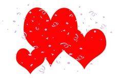 Partido de la tarjeta del día de San Valentín Foto de archivo libre de regalías