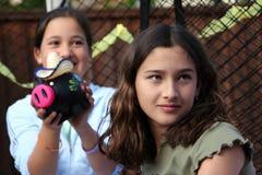 Partido de las muchachas Fotos de archivo libres de regalías