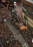 Partido de los Años Nuevos del Times Square de New York City Imagen de archivo libre de regalías