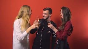 Partido de los amigos del Año Nuevo almacen de video