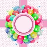 Partido de los globos del vector Foto de archivo