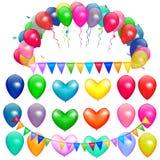 Partido de los globos del vector Foto de archivo libre de regalías