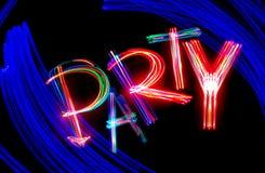 Partido de néon Fotos de Stock Royalty Free