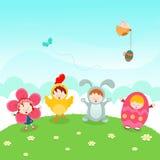 Partido de Pascua de los niños stock de ilustración