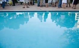 Partido de piscina Imágenes de archivo libres de regalías