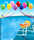Partido de piscina Imagen de archivo
