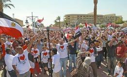 Partido de rua em Hurghada, Egipto Imagem de Stock