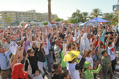 Partido de rua em Hurghada, Egipto Foto de Stock Royalty Free