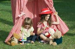Partido de té de los niños Fotografía de archivo
