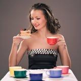 Partido de té de uno Fotografía de archivo