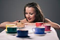 Partido de té de uno Fotos de archivo libres de regalías