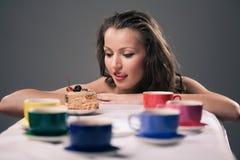 Partido de té de uno Foto de archivo libre de regalías