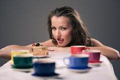 Partido de té de uno Fotos de archivo