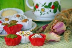 Partido de té del día de fiesta Imagen de archivo libre de regalías