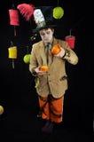 Partido de té enojado del sombrerero Foto de archivo libre de regalías