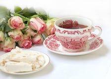 Partido de té inglés imagenes de archivo