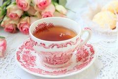 Partido de té inglés foto de archivo