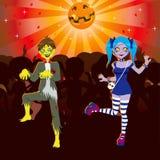 Partido de Víspera de Todos los Santos del disco del zombi ilustración del vector