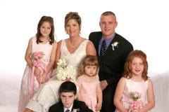 Partido de Wed horizontal distante Imagem de Stock