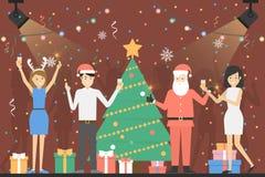 Partido del Año Nuevo ilustración del vector