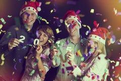 Partido del Año Nuevo Fotografía de archivo libre de regalías
