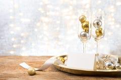 Partido del Año Nuevo de la Navidad con el actual backgroun del espacio de la copia del regalo fotografía de archivo libre de regalías