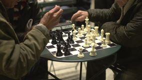 Partido del ajedrez del Central Park (1 de 4) metrajes
