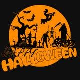 Partido del amarillo de Halloween ilustración del vector