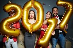 Partido del Año Nuevo Imagenes de archivo