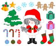 Partido del artículo de la Navidad ilustración del vector