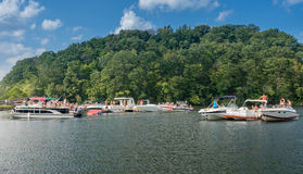 Partido del canotaje del Día del Trabajo en el lago Morgantown WV cheat Fotos de archivo
