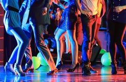 Partido del club de noche Imagen de archivo