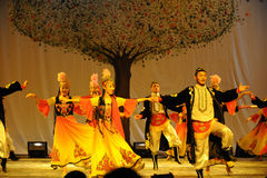 Partido del concierto de la graduación de la clase de baile de Xinjiang Uygur dance-2011 Imágenes de archivo libres de regalías