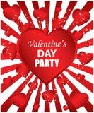 Partido del día de tarjeta del día de San Valentín Fotografía de archivo