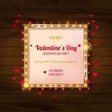 Partido del día del `s de la tarjeta del día de San Valentín stock de ilustración