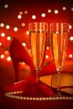 Partido del día de tarjeta del día de San Valentín Imagen de archivo libre de regalías