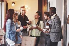 Partido del evento de la celebración del café del negocio del descanso para tomar café Concepto de la reunión de reflexión del tr Imágenes de archivo libres de regalías