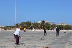 Partido del grillo en Bengasi Foto de archivo libre de regalías